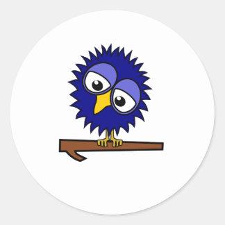 Blue Tweet Classic Round Sticker