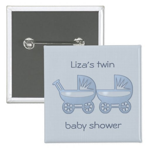 blue twin baby buggy pin