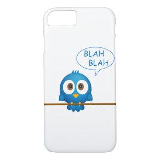 Blue twitter bird cartoon iPhone 7 case