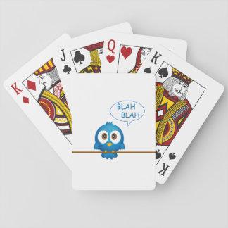 Blue twitter bird cartoon poker deck