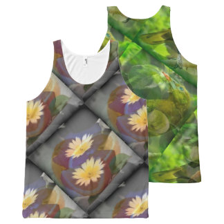blue two and green three All-Over-Print tank top