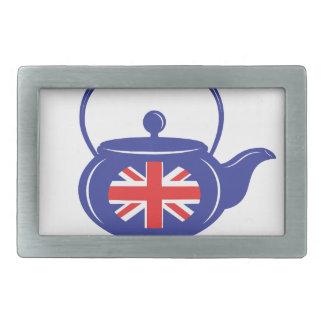 Blue UK Teapot Belt Buckle