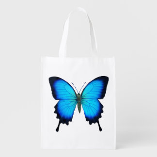 Blue Ulysses Butterfly Grocery Tote Bag Reusable Grocery Bag