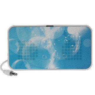Blue underwater bubble notebook speaker