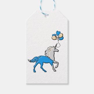 Blue unicorn gift tags