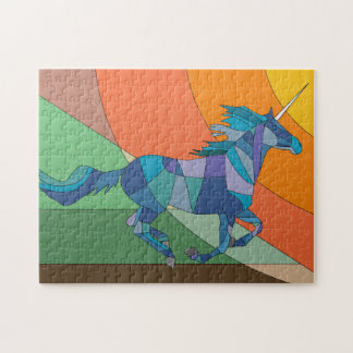 Blue Unicorn Jigsaw Puzzle