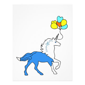 Blue unicorn letterhead