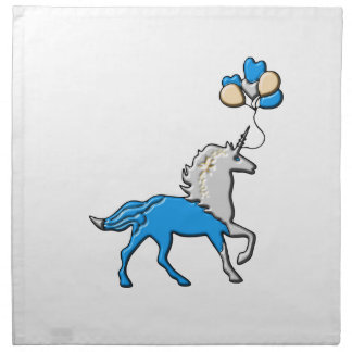 Blue unicorn napkin