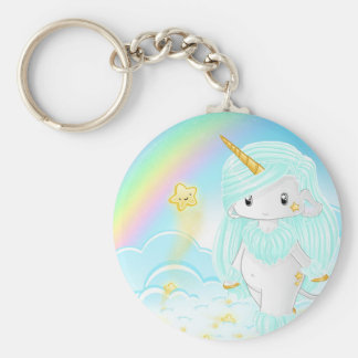 Blue Unicorn Po Keychain
