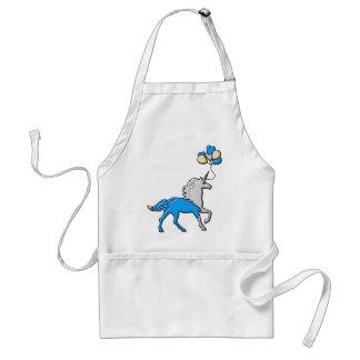 Blue unicorn standard apron