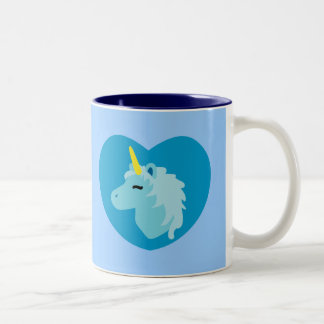 Blue Unicorn Two-Tone Coffee Mug