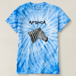 Blue Unisex Graphic Zebra Tie Dye Top
