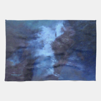 BLUE UNIVERSE ABSTRACT KITCHEN TOWEL