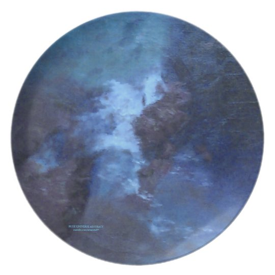 "BLUE UNIVERSE ABSTRACT"" PLATE"