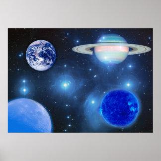 Blue Universe Poster