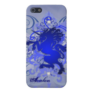 Blue Urban Fantasy Unicorn 5g Iphone Case iPhone 5 Covers
