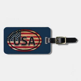 Blue USA Patriotic Flag Luggage Tag