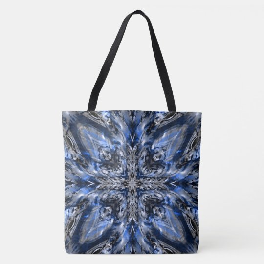 Blue vampire cross tote bag