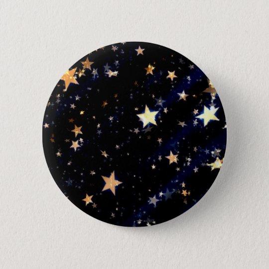 Blue Velvet Effect Stars 2 Inch Round Button
