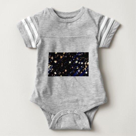 Blue Velvet Effect Stars Baby Bodysuit