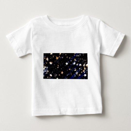 Blue Velvet Effect Stars Baby T-Shirt