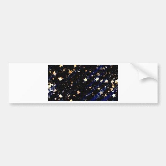 Blue Velvet Effect Stars Bumper Sticker