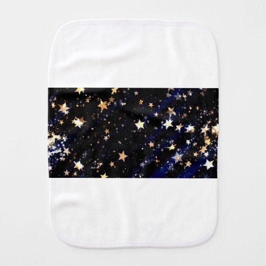 Blue Velvet Effect Stars Burp Cloth