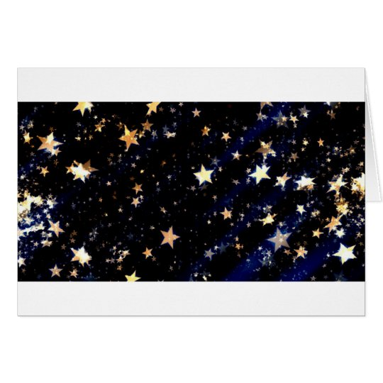 Blue Velvet Effect Stars Card