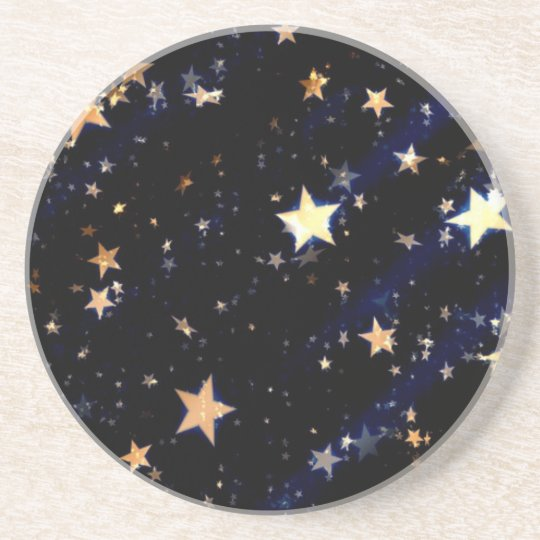 Blue Velvet Effect Stars Coaster