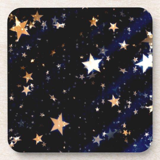 Blue Velvet Effect Stars Coaster