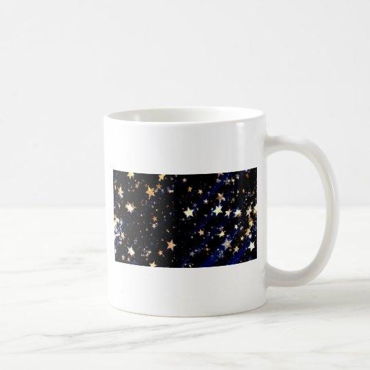 Blue Velvet Effect Stars Coffee Mug