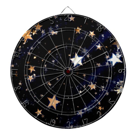 Blue Velvet Effect Stars Dartboard