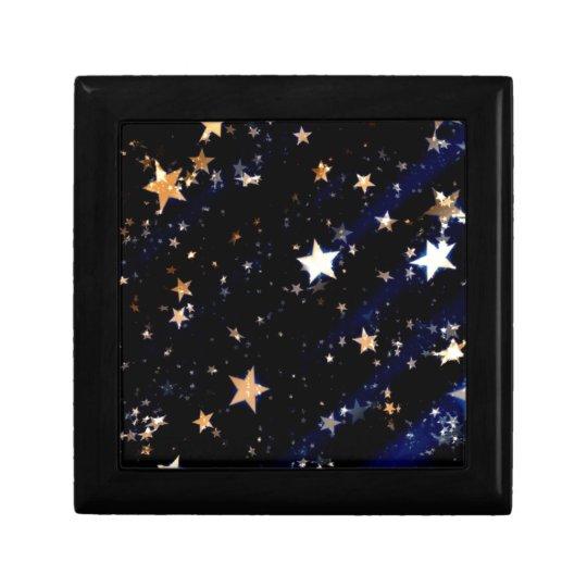 Blue Velvet Effect Stars Gift Box