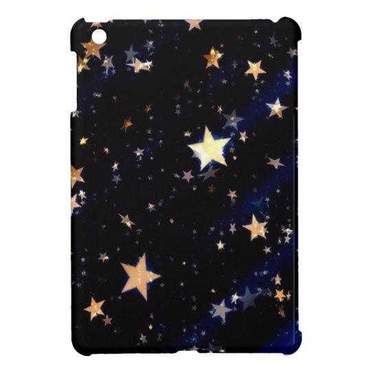 Blue Velvet Effect Stars iPad Mini Case