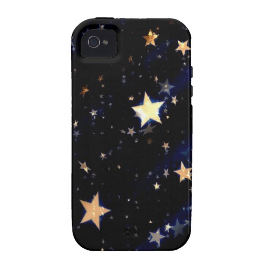 Blue Velvet Effect Stars iPhone 4/4S Cover