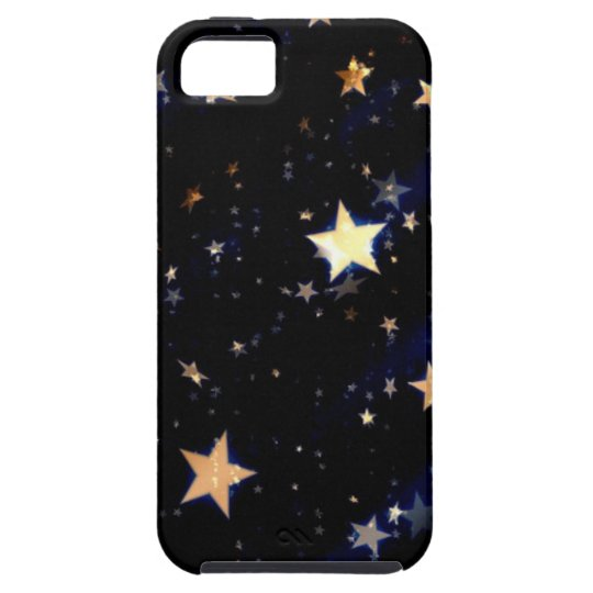 Blue Velvet Effect Stars iPhone 5 Cases