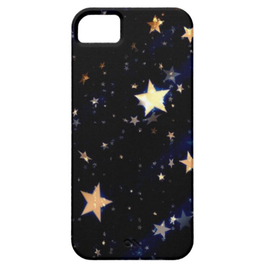 Blue Velvet Effect Stars iPhone 5 Cover