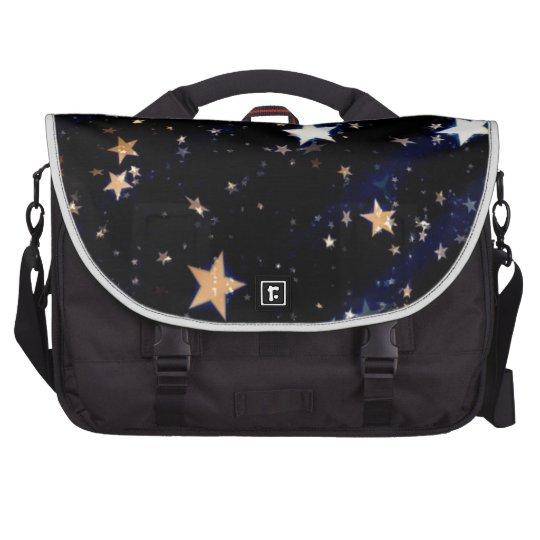 Blue Velvet Effect Stars Laptop Commuter Bag