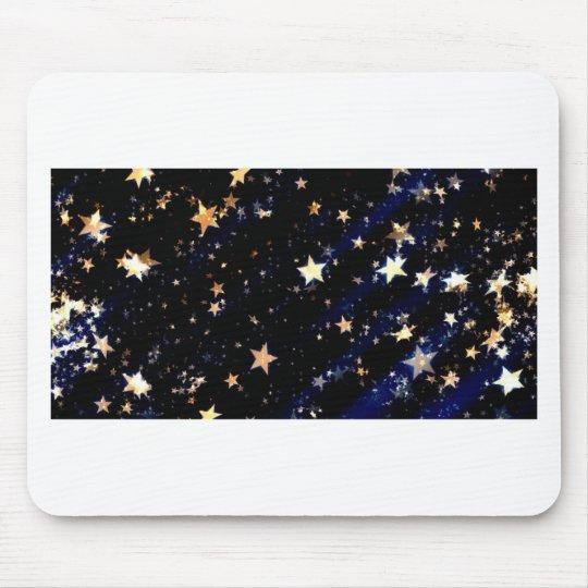 Blue Velvet Effect Stars Mouse Pad