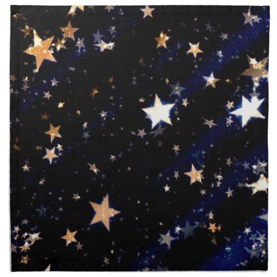 Blue Velvet Effect Stars Napkin