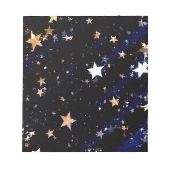 Blue Velvet Effect Stars Notepad