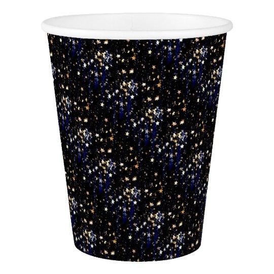 Blue Velvet Effect Stars Paper Cup