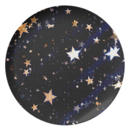 Blue Velvet Effect Stars Plate