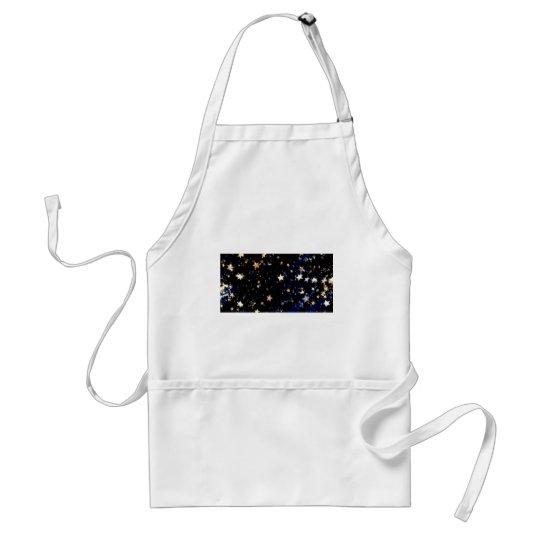 Blue Velvet Effect Stars Standard Apron