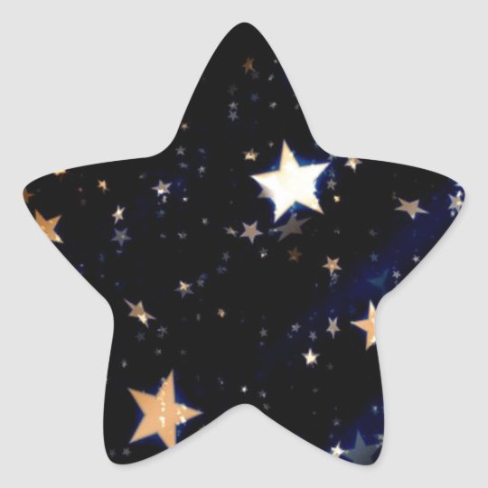 Blue Velvet Effect Stars Star Sticker