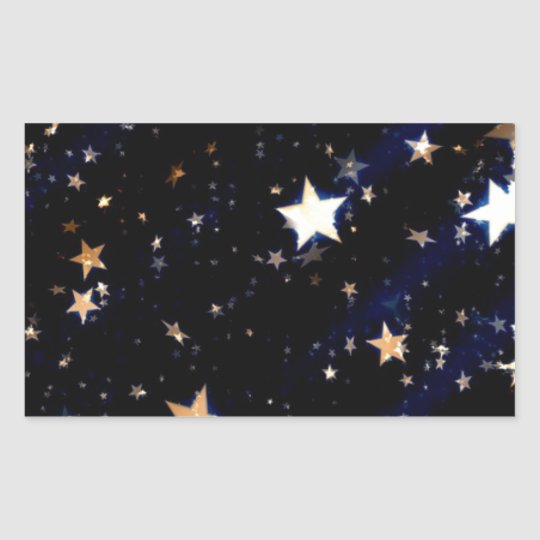 Blue Velvet Effect Stars Sticker