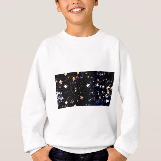 Blue Velvet Effect Stars Sweatshirt