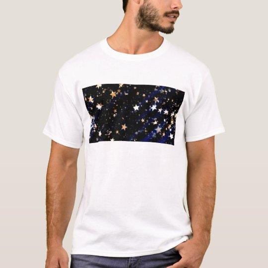 Blue Velvet Effect Stars T-Shirt