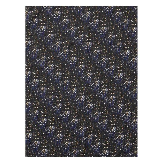 Blue Velvet Effect Stars Tablecloth