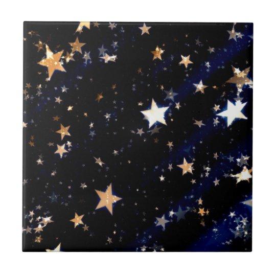 Blue Velvet Effect Stars Tile